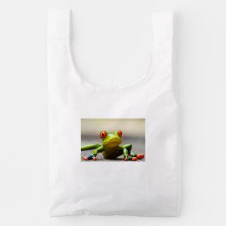 De macro van de kikker herbruikbare tas