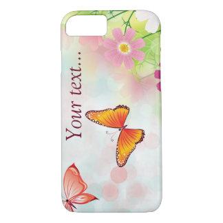 De madeliefjes en de vlinders van de zomer iPhone 7 hoesje