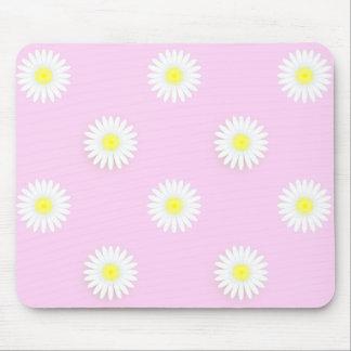 "De Madeliefjes van ""flower power"": Roze-Yel-wit Muismat"