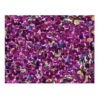 De Magenta Roze Lovertjes Faux van Girly Briefkaart