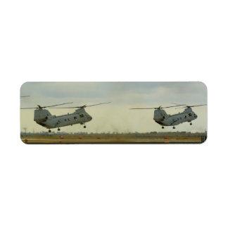De magere Etiketten van de Helikopter Retouretiket