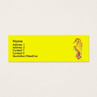 De magere Kaart van het Profiel - Seahorses Mini Visitekaartjes
