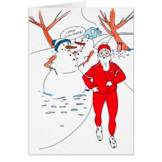 De magere Kerstkaart van de Kerstman voor Agent Wenskaart