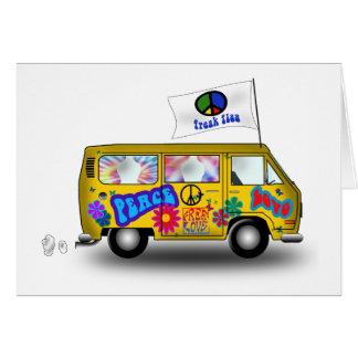 De magische Bestelwagen van de Hippie Briefkaarten 0