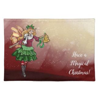 De magische Fee van de Klok van Kerstmis Placemat