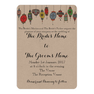 De magische Marokkaanse Uitnodiging van het