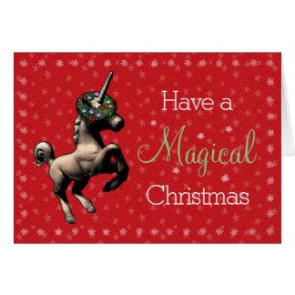 """De Magische (Rode) Kerstkaart van de vakantie """"van Briefkaarten 0"""