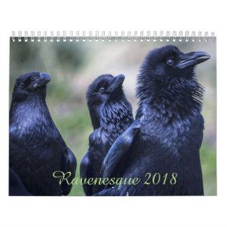 De magische Vogel 2018 van Ravenesque 18 Kalender