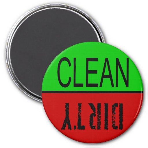 De Magneet van de afwasmachine - maak/Vuil schoon