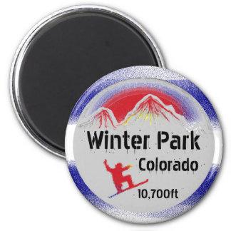 De magneet van de de vlag snowboard kunst van
