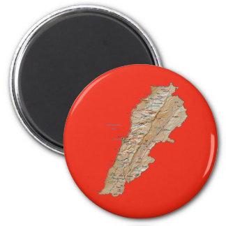 De Magneet van de Kaart van Libanon