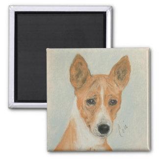 De Magneet van de Kunst van de Hond van Basenji