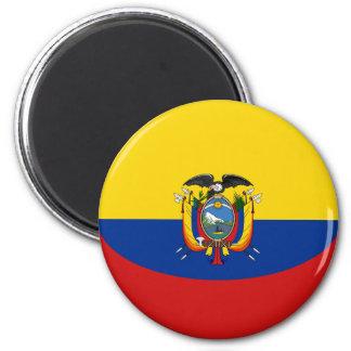 De Magneet van de Vlag van Ecuador Fisheye