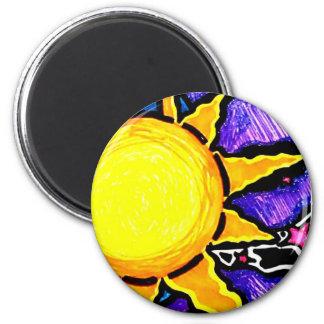 De magneet van de zon en van de maan