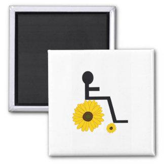 De Magneet van de Zonnebloem van de rolstoel