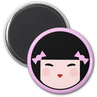 De Magneet van het Gezicht van Doll van Kokeshi