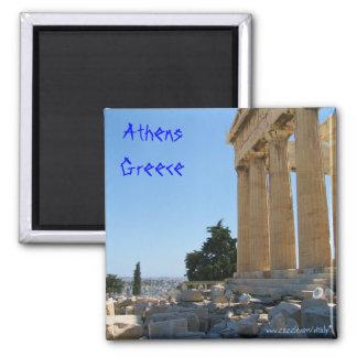 De magneetontwerp van Athene Griekenland Vierkante Magneet
