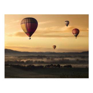 De majestueuze Ballons van de Hete Lucht Briefkaart
