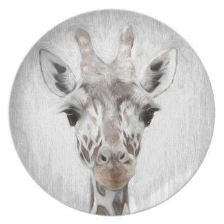 De majestueuze Giraf beeldde geselecteerd met Melamine+bord