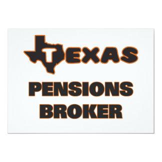 De Makelaar van de Pensioenen van Texas 12,7x17,8 Uitnodiging Kaart