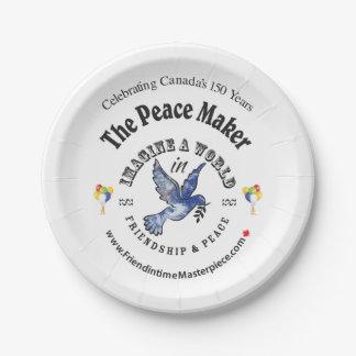 De Maker van de vrede Papieren Bordje