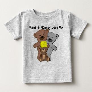 De mamma's en de Mama houden van me Baby T Shirts