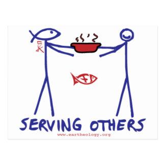 De Man van de daad & Anita Deed Serving Others van Briefkaart