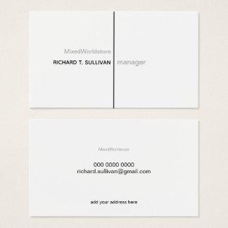 De manager elegante & moderne b/w van het bedrijf visitekaartjes