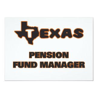 De Manager van het Fonds van het Pensioen van 12,7x17,8 Uitnodiging Kaart