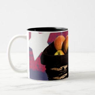 De Mand van Apple Tweekleurige Koffiemok