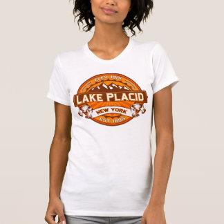De Mandarijn van het Logo van het Lake Placid T Shirt