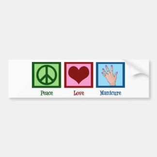 De Manicure van de Liefde van de vrede Bumpersticker