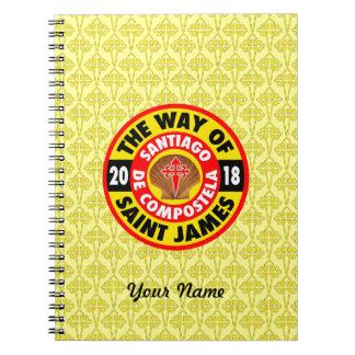 De manier van Heilige James 2018 Ringband Notitieboek