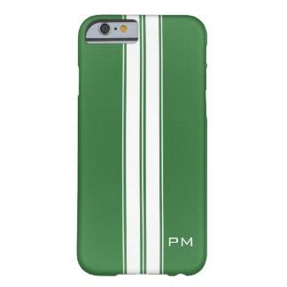 De mannen Groene Witte het Rennen Initialen van Barely There iPhone 6 Hoesje