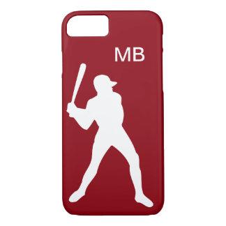 De mannen Initialen van de Naam van het Honkbal iPhone 7 Hoesje