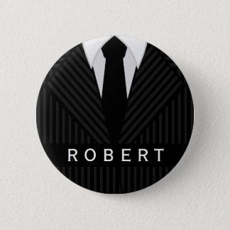De Mannen Mode van het Kostuum van de krijtstreep Ronde Button 5,7 Cm