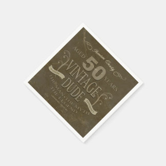 de Mannen Servetten van de 50ste Verjaardag Papieren Servetten