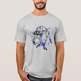 De mannen t-shirt van de Buldog van Splatted