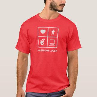 De Mannen T-shirt van de Minnaar van de Vrijheid