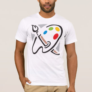 De Mannen T-shirt van het Palet van schilders