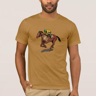 De Mannen T-shirt van paardenrennen