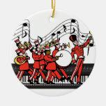 De marcherende Nota's van het Toetsenbord en van Kerstboom Ornament