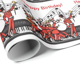 De marcherende Piano van de Hoornen van de Band en Inpakpapier