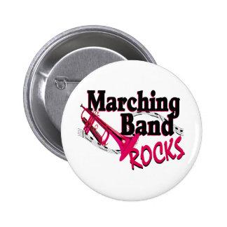 De marcherende Rotsen van de Band Ronde Button 5,7 Cm