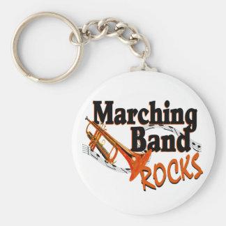 De marcherende Rotsen van de Band Sleutelhanger