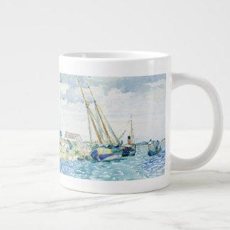 De mariene Boten van de Scène dichtbij Venetië Grote Koffiekop