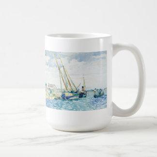 De mariene Boten van de Scène dichtbij Venetië Koffiemok