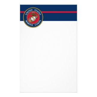 De Marine van de V.S. - Blauw Briefpapier