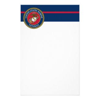 De Marine van de V.S. - het Blauw van de Veteraan Briefpapier