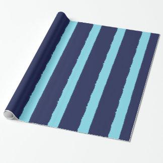 De Marine van waterverven en Blauwe Strepen Inpakpapier